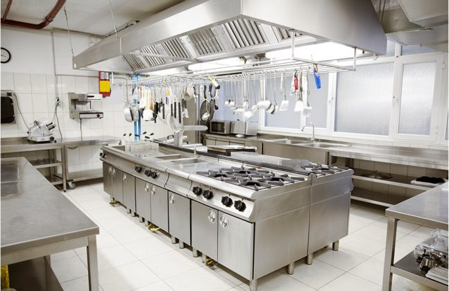 School cafeteria kitchen